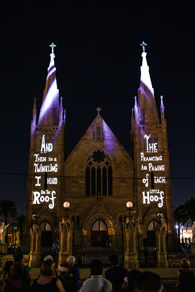 The Lights of Christmas - St Josheph's Cathedral Rockhampton.