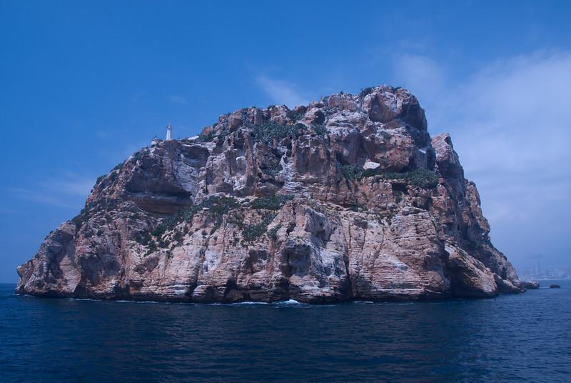 Benidorm Island (also known as Peacock Island) in Benidorm, Spain