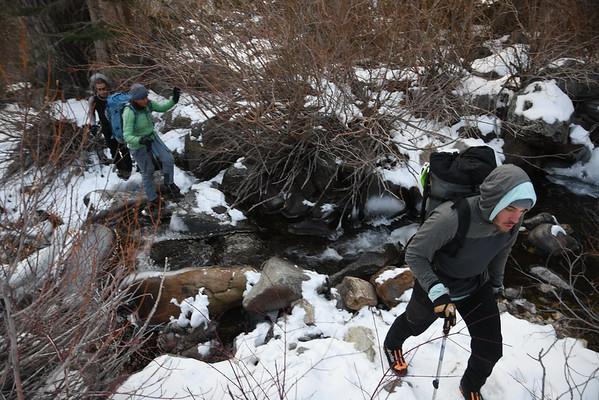 Lee Vining Ice Climbing December 7, 2016