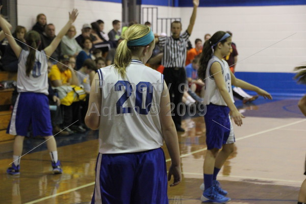7th and 8th girls bball v. le-win . 2.25.15