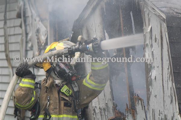 6/3/20 - Eaton Rapids garage fire, 116 N Center