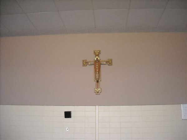 The Cross hanging in the Center