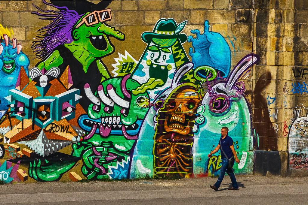奥地利维也纳,路边涂鸦