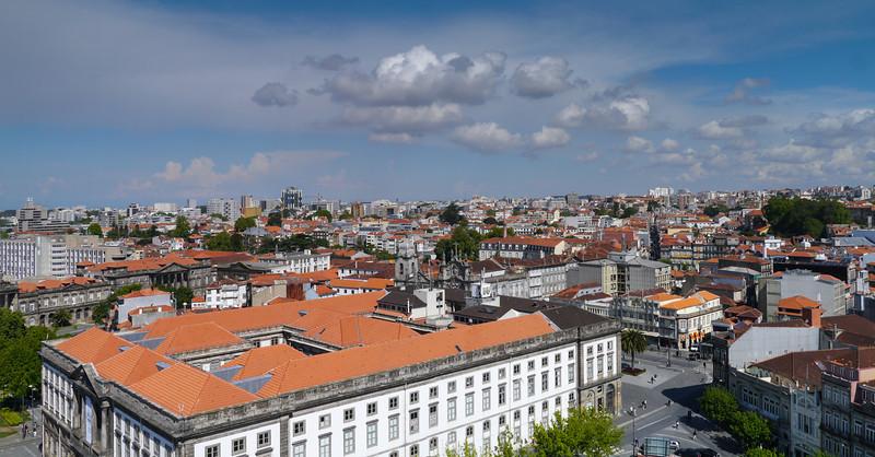 Panorama image from Torre de los Clérigos
