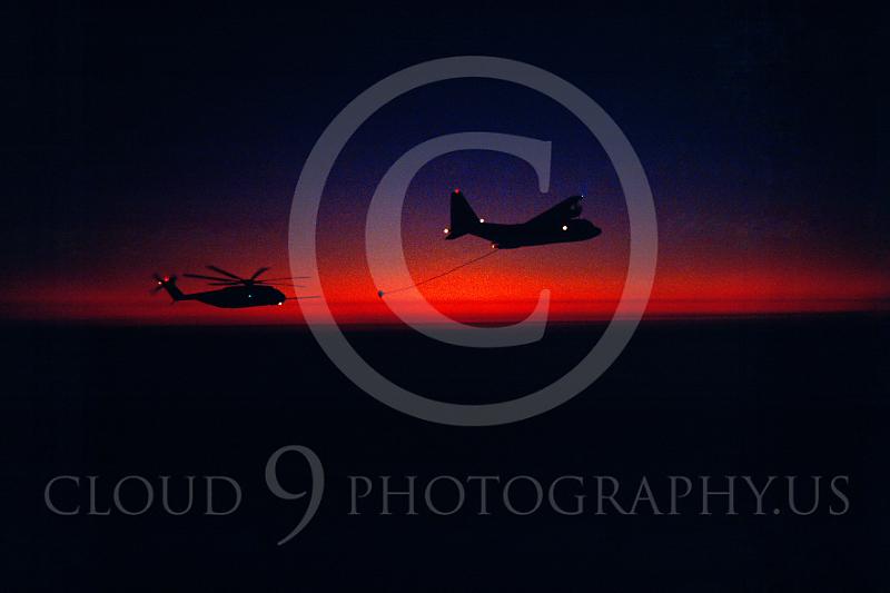 ARH53 00010 Lockheed KC-130R and Siskorsky CH-53 Sea Stalion, US Marine Corps, by Peter J Mancus.JPG