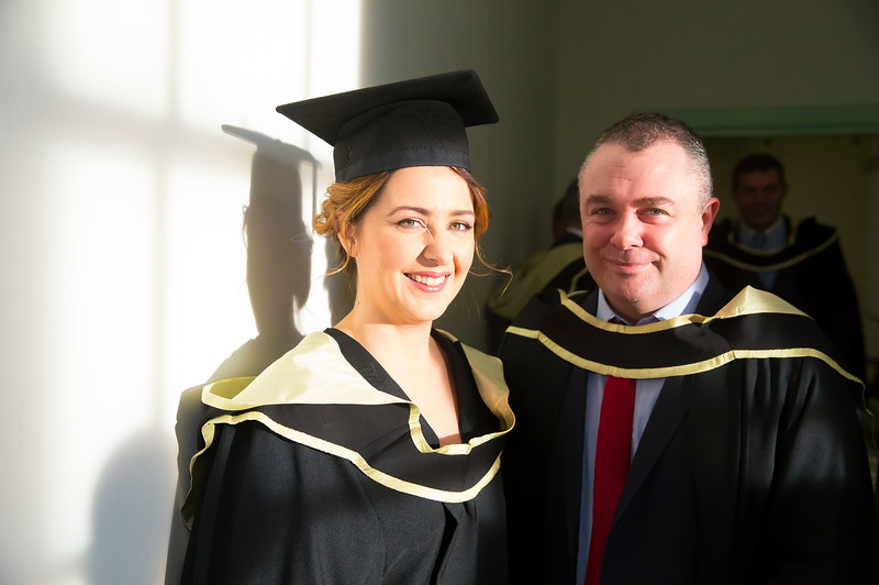 02/11/2016. Waterford Institute of Technology (WIT) Conferring Ceremonies November 2016. Pictured are Jennifer Doran and Trevor Condon from Waterford who Graduated Master of Science in Construction Project Management. Picture: Patrick Browne
