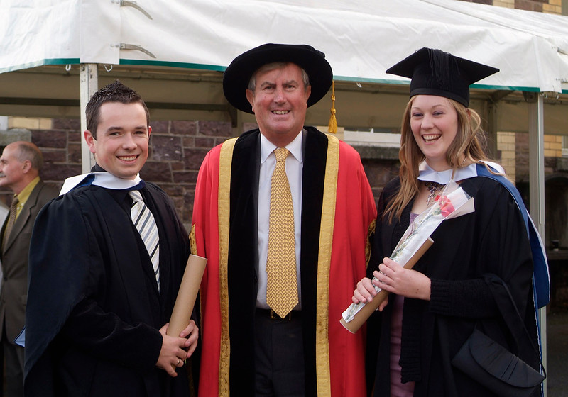 Damien Kennedy, Ennis Rd., Limerick and Marie Daly, Charleville, Co. Cork, who were both conferred with BSc in Architectural Technology at WIT, pictured with Redmond O'Donoghue, Chairman, Waterford Institute of Technology. (pic-photozone)