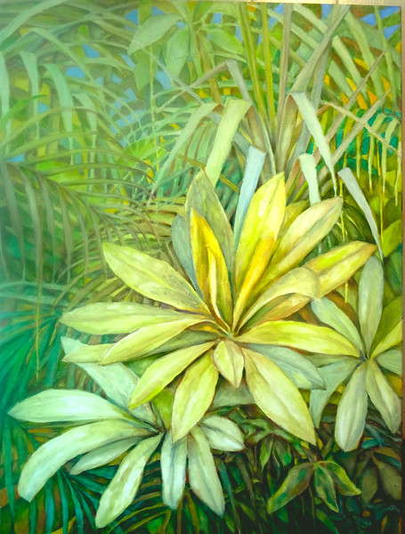 """© 2011 John Rachell Title: Garden, October 10, 2011 Image Size: 30"""" W by 40"""" D Dated: October 10, 2011 Medium and Support: Oil paint on canvas Signed: LR Signature"""