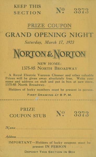 1923, Grand Opening Night
