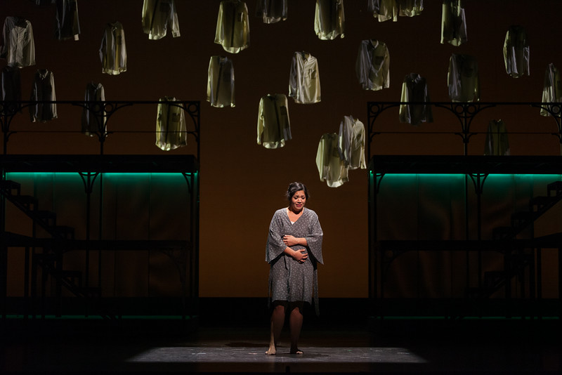 "Vanessa Isiguen as Roberta Alden in The Glimmerglass Festival's new production of Tobias Picker's ""An American Tragedy."" Photo: Karli Cadel/The Glimmerglass Festival."