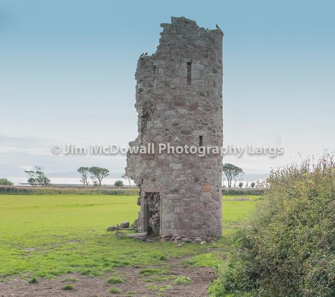 Montfode Castle Ruins Ardrossan Scotland