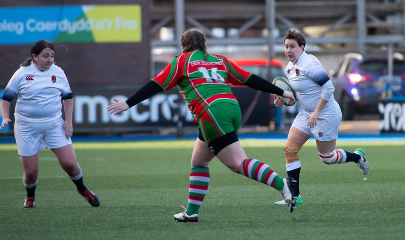 Deri Diamonds vs England Women Deaf Rugby, Cardiff Arms Park, 27 January 2019