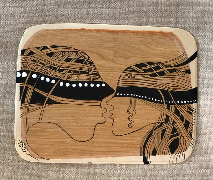 Wood art by Nira Dahan/ 'Just the two of us'