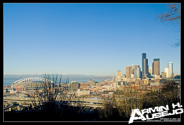 Seattle from Jose Rizal Park, 1-28-06