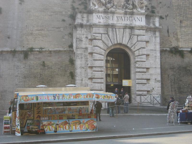 Street Vendor outside the Vatican museum.
