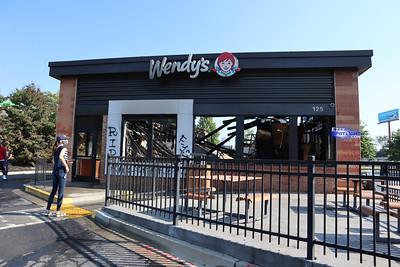 Wendy's Fire Damage - Atlanta