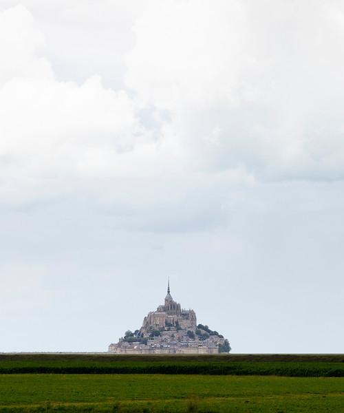 Mont Saint-Michel - Abbey on tidal island in Basse Normandy, France