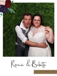 Bruiloft Ronnie en Babette