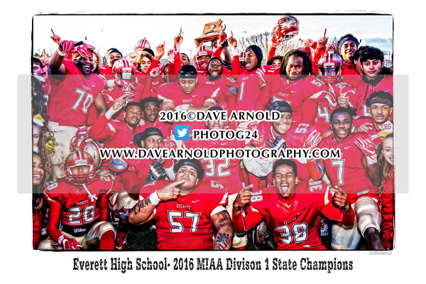 12/3/2016 - Varsity Football - MIAA Division 1 State Final - Xaverian vs Everett