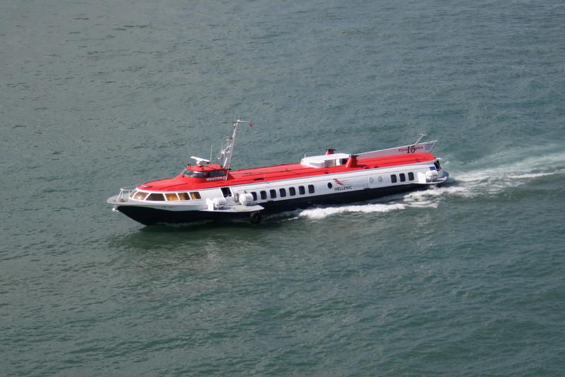 2008 - HSC FLYING DOLPHIN XV departing from Piraeus.