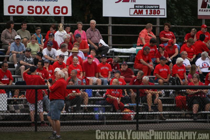 Kitchener Panthers at Brantford Red Sox IBL Playoffs, Round 1 Game 1 July 27, 2011