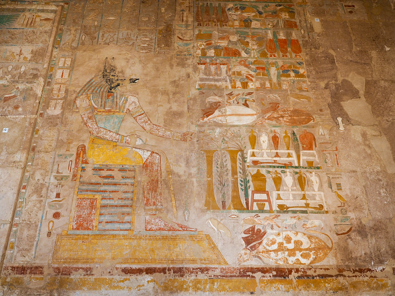 Painting at the Temple of Hatshepsut