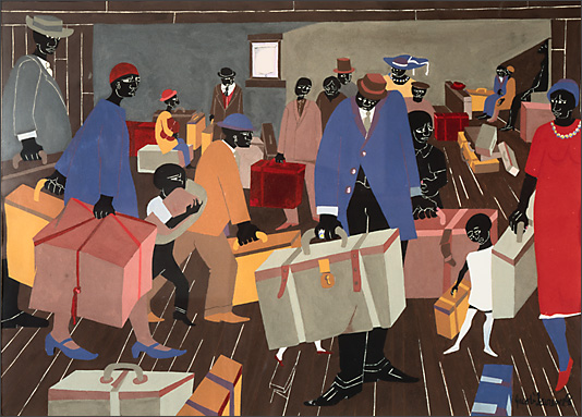 "Jacob Lawrence, ""Dreams No.4: Railroad Station"" (1966)"