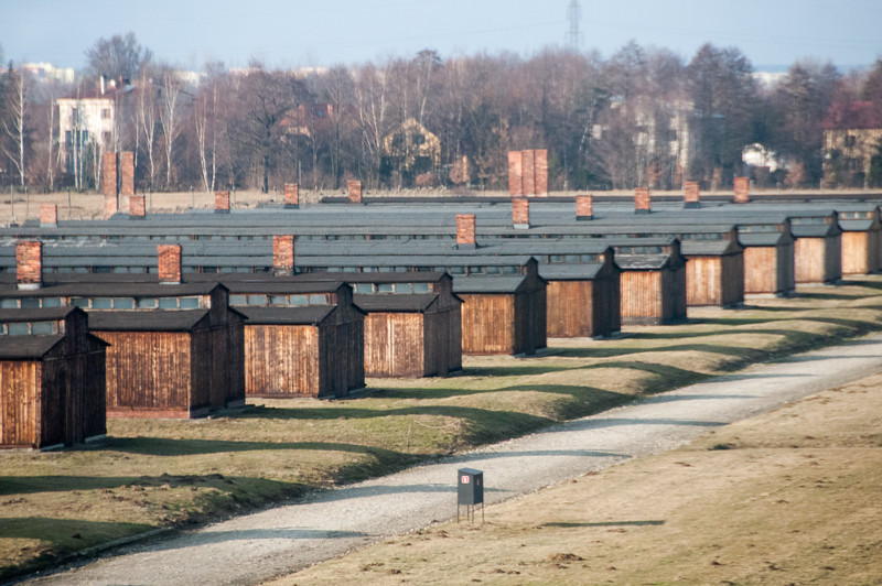 The concentration camp in Auschwitz Birkenau - Krakow, Poland