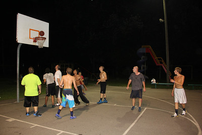 Guys Playing Basketball, North and Middle Ward Playground, Tamaqua (8-21-2013)
