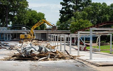 Demolition at Robert E. Lee High School by Sarah A. Miller
