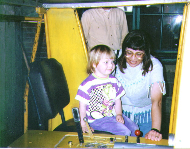 Alina & Connie at Union Station Train Museum,1995  002.jpg