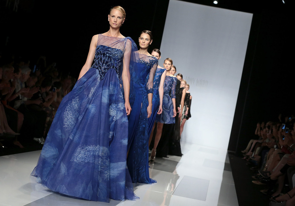 . Models walk the runway during Tony Ward F/W 2013-2014 Haute Couture collection fashion show as part of AltaRoma AltaModa Fashion Week at Santo Spirito In Sassia on July 9, 2013 in Rome, Italy.  (Photo by Elisabetta Villa/Getty Images)