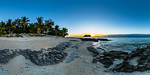 Beautiful Sunset at the Beach of Vomo Island Resort - Fiji Islands