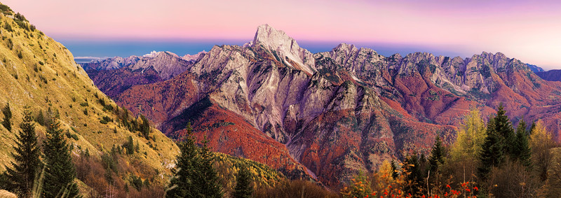 Canale d'Incarojo e Monte Sernio, colori pastello - foto n° 041107-462571