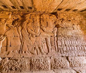 Reliefs in der Kapelle zur Pyramide Beg N12, Nordfriedhof Meroe