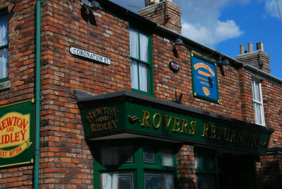 Coronation Street film set 2014.