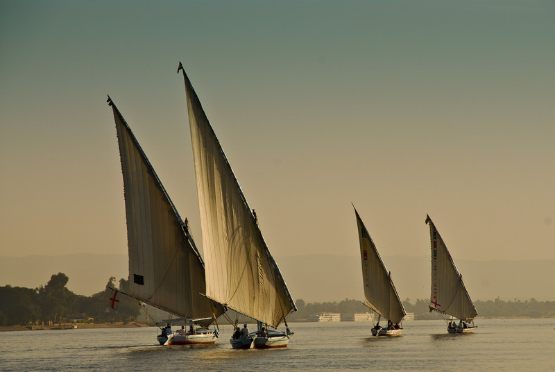Four Dhows on the Nile