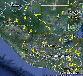 Guatemala route