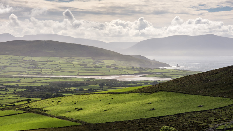 Kerry mountains and Dingle Bay