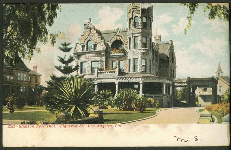 Stimson Residence.  Figueroa St.  Los Angeles, Cal.