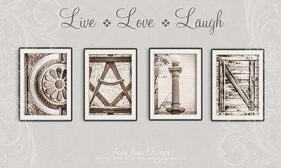 4x6 Vintage Detail Letters