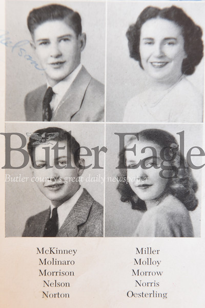 Harold Aughton/Butler Eagle: Charles Norton, Class of 1949 (first row, bottom pic)
