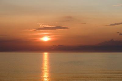 Sunset over Baltic Sea near Nida village, Neringa, Lithuania