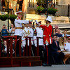 Gibraltar -25th September 2014 - An annual military parade replicating the past tradition of the Ceremony of the Keys was held at Casemates Square, Gibraltar. Govornor Sir Dutton presided over the events in which the Royal Gibraltar Regiment enacted a ceremony dating back to the early British colonia period in Gibraltar when the city gates were closed every night.