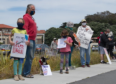 May 15 Protest to Save the City College of San Francisco Fort Mason Campus