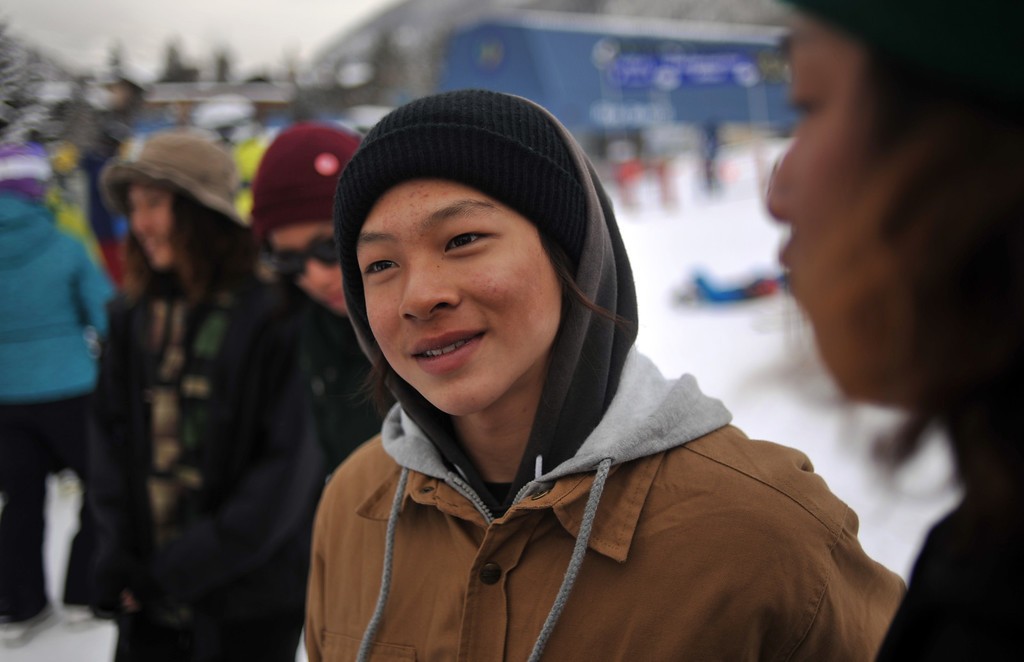 . VAIL, CO. - MARCH 1: Ayumu Hirano, 14, from Japan is in Vail for Burton U.S. Open. March 1, 2013. Vail, Colorado. (Photo By Hyoung Chang/The Denver Post)