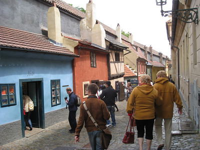Prague: Gold Lane at Prague Castle 2009-05-29