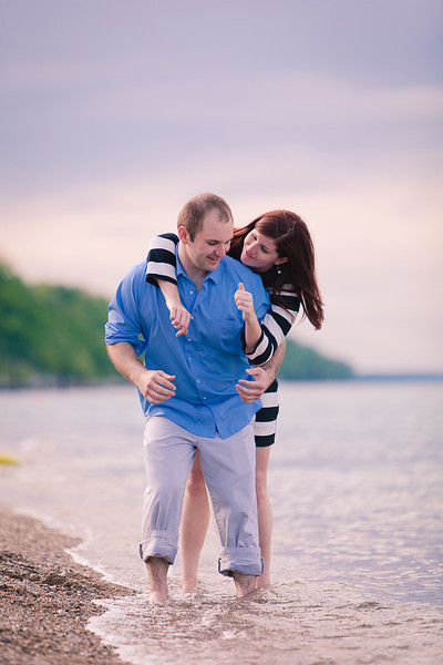 Rockford couple engagement photography session at Glencoe Beach on Lake Michigan