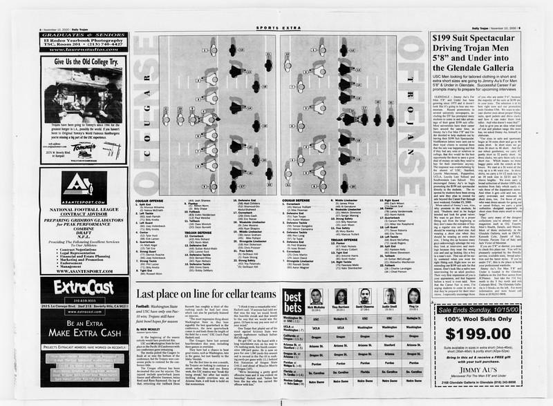 Daily Trojan, Vol. 141, No. 52, November 10, 2000