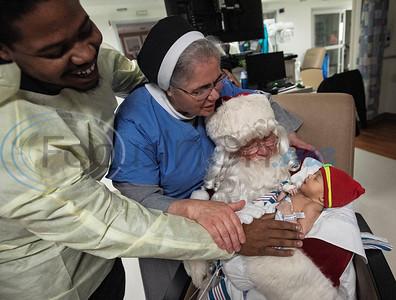 Christus Mother Frances Hospital- Tyler Santa Visits NICU & Festival of Trees by Sarah A. Miller